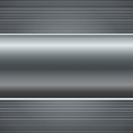 Abstract polished metal background with copy space   Ilustracja