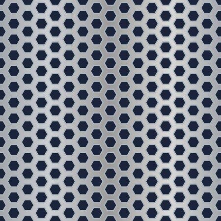 Seamless metal hexagon perforated vector texture. Stock Vector - 14607755