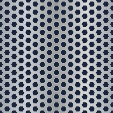 Seamless metal hexagon perforated vector texture. Stock Vector - 14607755