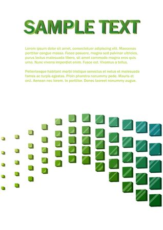 Green 3D cubes wave background. Stock Vector - 14713900