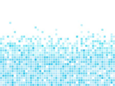 Abstract blauw mozaïek vector achtergrond met witte kopie ruimte.