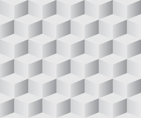 geometria: Seamless 3D cubos fondo blanco vector.
