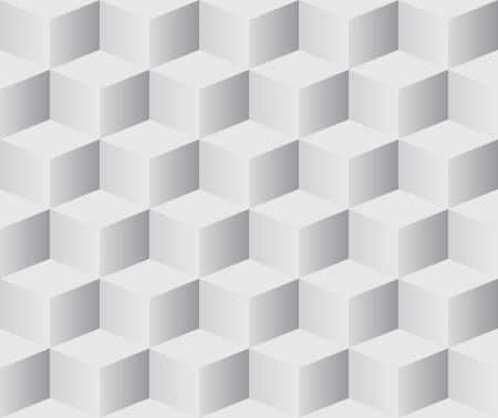 Seamless 3D white cubes vector background. Vector
