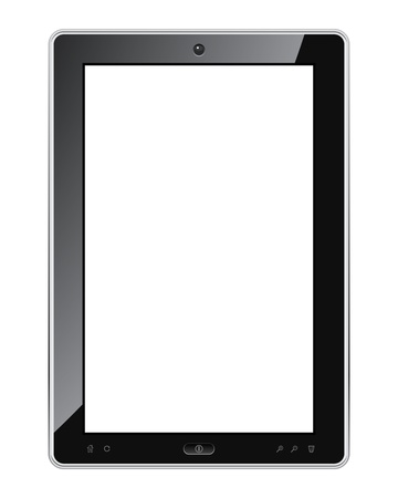 Blank tablet pc realistic vector illustration. Vector