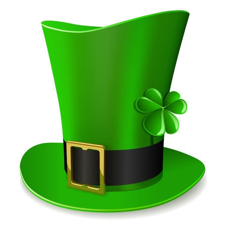 Leprechaun hoed - St Patricks Day symbool Stock Illustratie