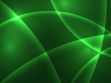 greenness: Abstract green curve lights background