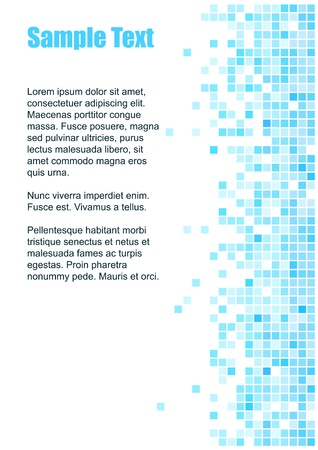 Abstract  blue mosaic background with copy space for the text  Vector