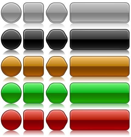 knop: Metallic embossed lege knoppen in verschillende kleuren en vormen