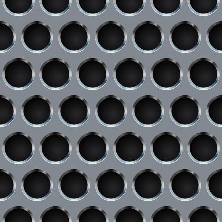 쇠 격자: 원활한 원형 구멍 금속 그릴