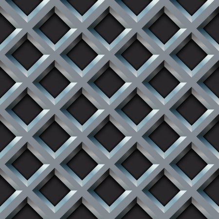 grill pattern: Seamless metal grill with diamond shape pattern  Illustration