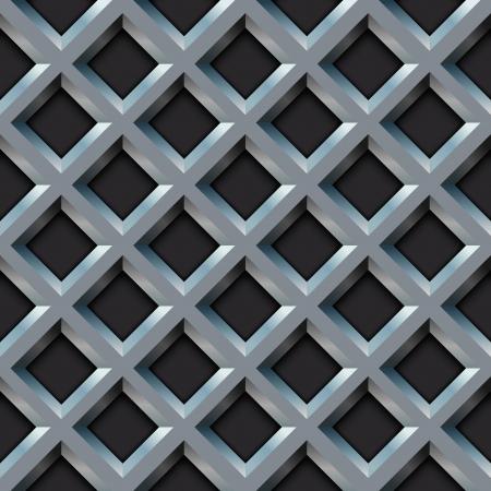 seamless metal: Seamless metal grill with diamond shape pattern  Illustration
