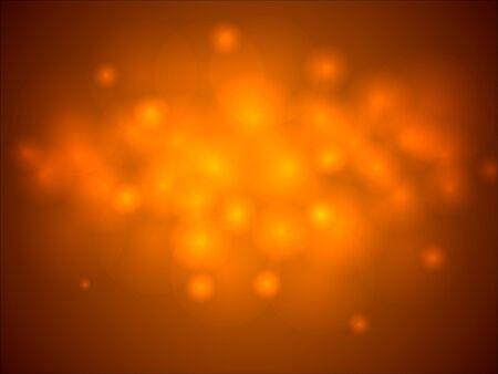 glowing lights: Abstract orange glowing lights horizontal background.