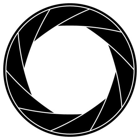Zwart-wit illustratie van sluitertijd kader Stock Illustratie