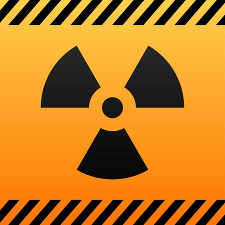 radiation hazard: radiation hazard black and yellow symbol  Illustration