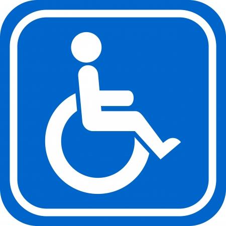 Wit en blauw gehandicapte teken Stock Illustratie