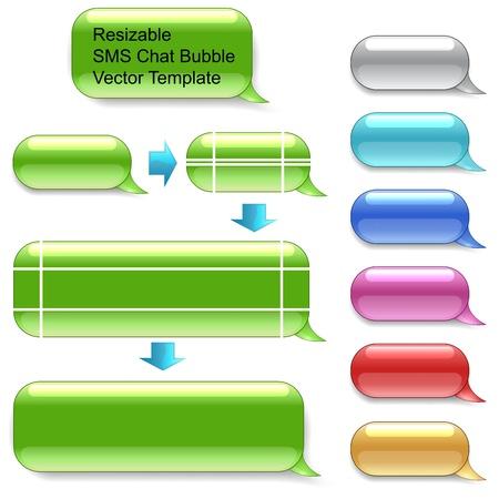 サイズ変更可能な SMS チャット テンプレート