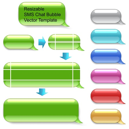 Resizable SMS chat template