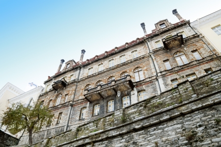 Tallinn old town architecture on stone fortification. Stock Photo - 16895895