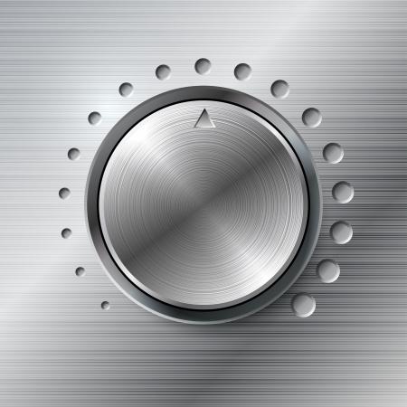 Metallic volume rotating knob  Vector