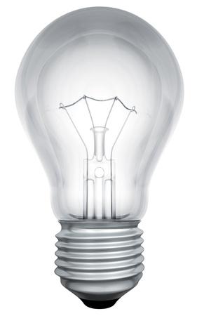 Standaard gloeilamp sjabloon geïsoleerd op een witte achtergrond. Stockfoto