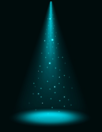 Abstract stage sparkling spotlight background Vector