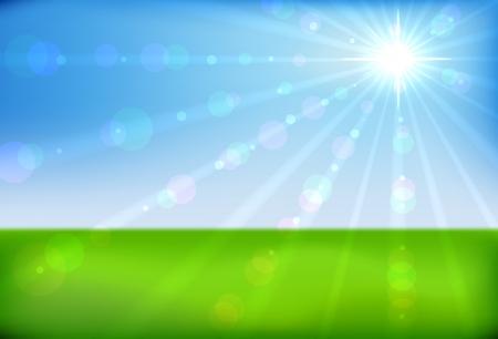 Spring sunshine horizontal background Stock Vector - 17247543