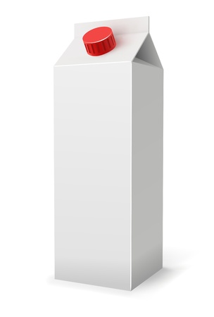 Milk or juice pack realistic vector illustration