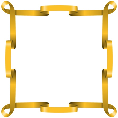 Bastidor de la cinta de oro aisladas sobre fondo blanco