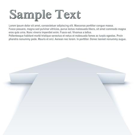 Abstracte witte pijl rechtdoor zakelijke vector achtergrond met kopie ruimte.