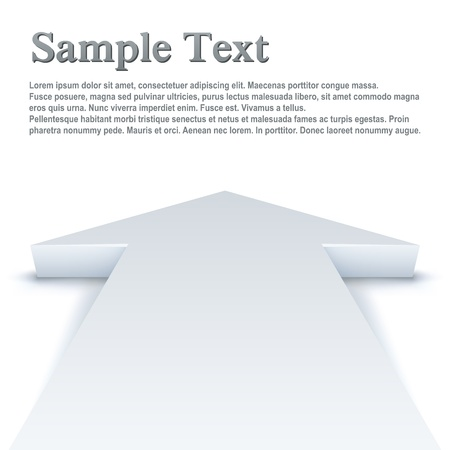 vision futuro: Resumen flecha blanca apuntando hacia delante de fondo vector negocios con copia espacio.