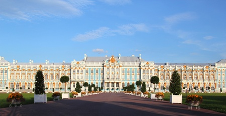The Catherine Palace - the summer residence of the Russian tsars. Pushkin, Saint-Petersburg. Stock Photo - 17913684