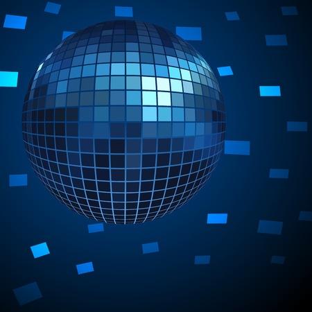 discoball: Blue Disco ball background