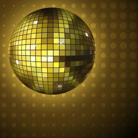 discoball: Golden disco ball background