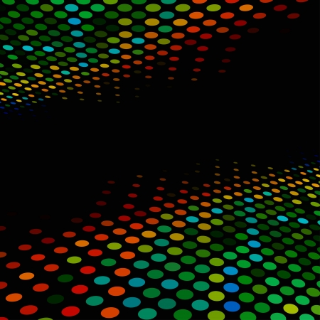 Disco style colorful halftone background with black copy space Stock Vector - 17916080