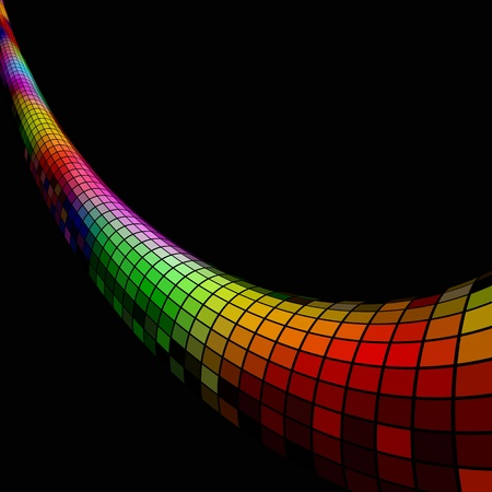 Colorful 3D mosaic pipe background with black copy space Stock Vector - 17916081