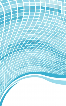Abstract blue wave mosaic background with copy space  Vector