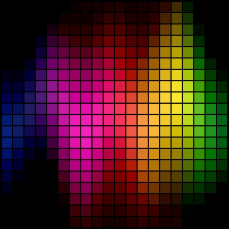 Abstract multicolor spectrum spot mosaic background. Stock Vector - 17916035