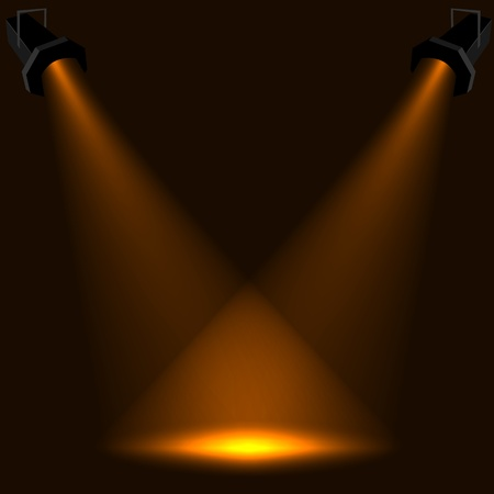 Abstract stage spotlight background.
