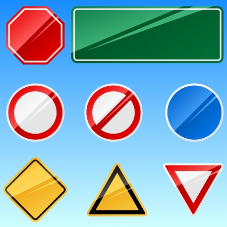 Blank road signs collection. Stock Vector - 17916031