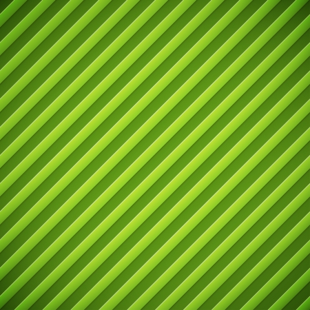Abstract diagonal bumped stripes green background  Illustration
