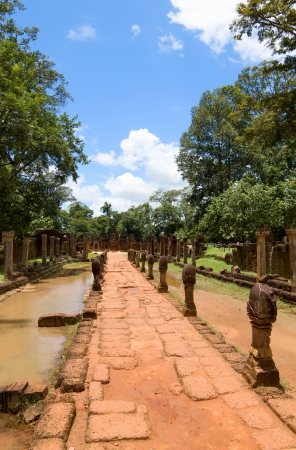 Banteay Srei Temple entrance pathway, Siem Reap, Cambodia  photo