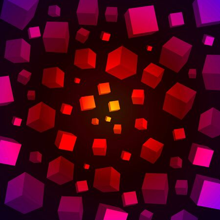 Colorful 3D cubes Stock Vector - 17998892