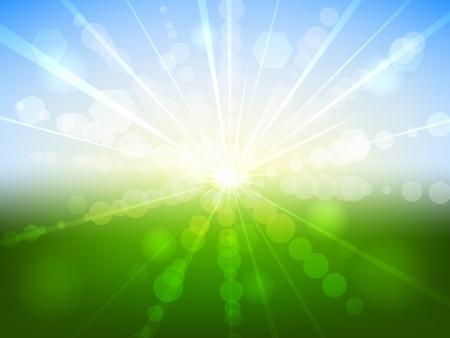 Zomer zonsopgang bokeh effect