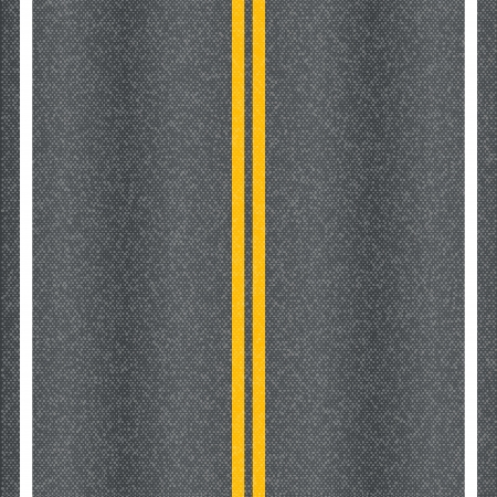 the road surface: Asphalt road texture with marking lines  Illustration