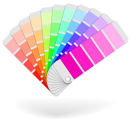 vector sample: Color sample catalogue sheaf vector icon isolated on white background