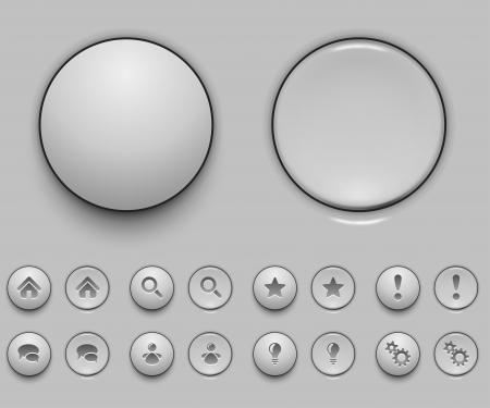 Blank white push button template vector illustration Stock Vector - 18531629