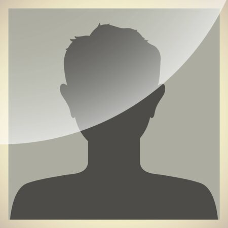 Default internet avatar in old photo frame style. Vector