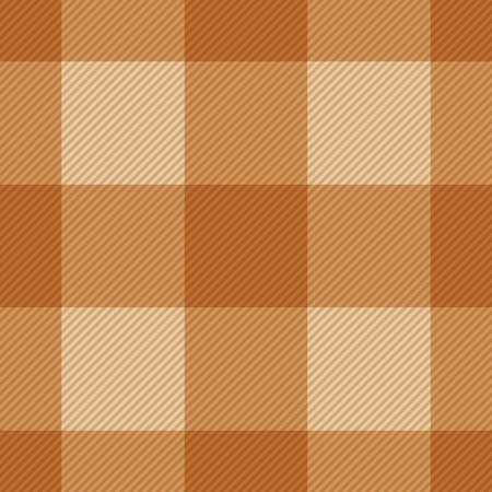 Seamless classic brown plaid checkered cloth vector pattern. Vector