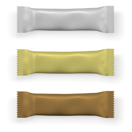 candy bar: Cioccolato bianco o un modello di imballaggio bar proteina isolato su sfondo bianco.