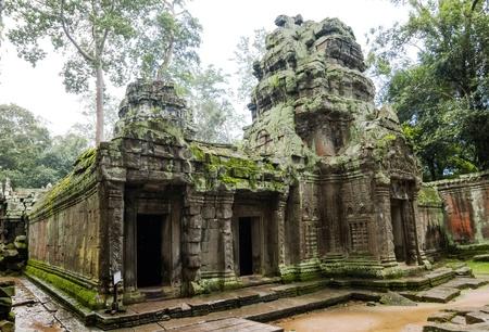 Ancient Ta Prohm or Rajavihara Temple structure at Angkor, Siem Reap, Cambodia. Stock Photo - 19685076